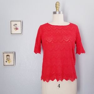 Madewell broadway & broome lace blouse